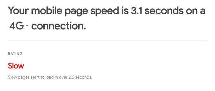 speed up your mobile website